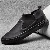懶人鞋 春季男士休閒皮鞋韓版潮鞋百搭馬丁靴懶人一腳蹬板鞋子男 唯伊時尚