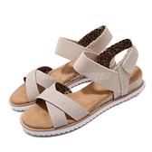 Skechers 涼拖鞋 Desert Kiss-Secret Picnic 米色 棕色 女鞋 魔鬼氈 涼鞋 拖鞋【ACS】 33386NAT