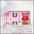 粉大理石英式午茶禮盒(附提袋) 生日禮物 情人節禮物 聖誕禮物 伴娘禮 婚禮禮物 交換禮物 喝茶禮