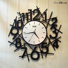 創意客廳靜音掛鐘 現代歐式鐵藝時鐘YG-...