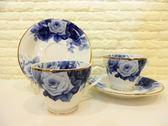 快速出貨 BELLE PLAT 藍玫瑰 下午茶杯 對杯組 咖啡杯 對杯組【Tifana】