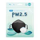 AOK PM2.5輕防霾矽膠鼻夾防霧口罩2入 黑色 L【德芳保健藥妝】
