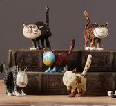 客廳書房家居裝飾品軟裝樹脂創意小擺件 CAT貓 ZL819『夢幻家居』
