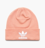 IMPACT Adidas Trefoil Beanie 粉 橘粉 白 毛帽 三葉草 男女可戴 DV2486