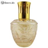 (竹葉-金黃) 大玻璃瓶 香薰瓶 薰香瓶 精油瓶