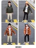 新款韓版外套兒童棉襖女童棉衣男童冬裝中大童加厚印花時尚面包服
