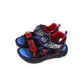 警察戰隊 涼鞋 電燈鞋 中童 童鞋 黑/紅 RPKT01700 no908