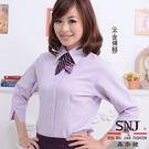 【S-13】森奈健-魅力焦點OL吸濕排汗七分袖女襯衫(粉紫色)