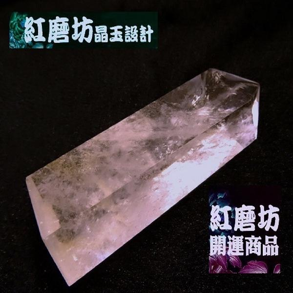【Ruby工作坊】NO.80W優質天然白水晶柱一組(加持祈福)