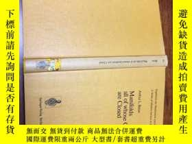 二手書博民逛書店Manifolds罕見all of Whose Geodesics are ClosedY171500 看圖