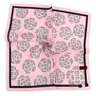 CLATHAS滿版山茶花純綿帕巾(粉紅色)989265-19