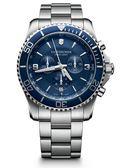 VICTORINOX 瑞士維氏 SWISS ARMY 三眼計時 手錶 (VISA-241689) 潛水藍/43mm