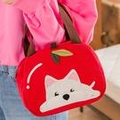 Kiro貓‧高地白梗 狗狗 蘋果造型 拼布包 手提包/野餐便當袋【810057】
