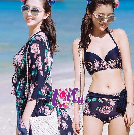 來福泳衣,C794泳衣浪飛沙長紗三件式泳衣游泳衣泳裝比基尼正品,售價1200元