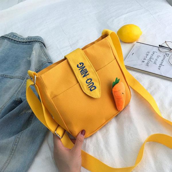 肩背包-ins日系可愛胡蘿蔔大容量手提肩背包【AN SHOP】