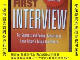 二手書博民逛書店Your罕見First Interview:for studen