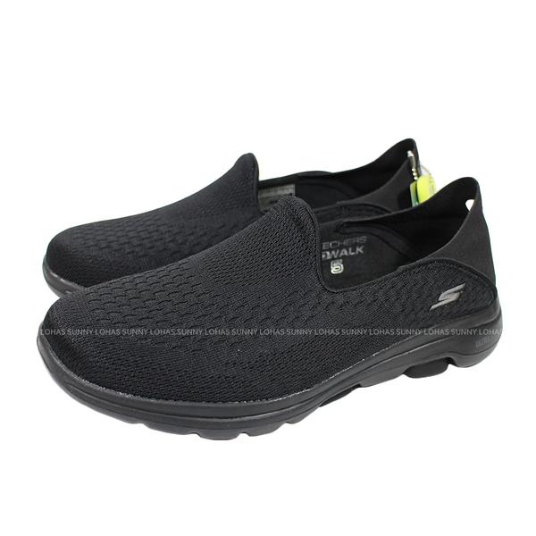 (B3) SKECHERS 休閒鞋 Go Walk 5-Outclass 女鞋 15927BBK 健行 郊遊 懶人鞋 全黑鞋 上班鞋 [陽光樂活]