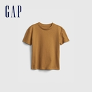 Gap男幼童 基本款素色短袖T恤 879022-棕色