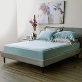 HOLA 雅逸天絲素色系列 歐式枕套 2入 湖綠色