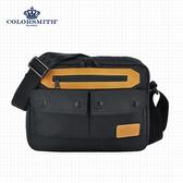 【COLORSMITH】BR.雙層全開側背包.BR1074-A-BK