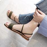 涼鞋女 沙灘鞋女波西米亞涼鞋拖鞋兩穿女夏平底簡約度假百搭海邊沙灘泰國 鹿角巷