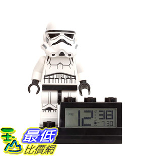 [8美國直購] 鬧鐘 LEGO 9004032 ClicTime Lego Star Wars Stormtrooper Alarm Clock 6 inches, White