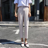 直簡褲  直筒褲女韓版高腰休閒褲寬鬆顯瘦煙管褲九分西裝褲哈倫褲  蒂小屋服飾