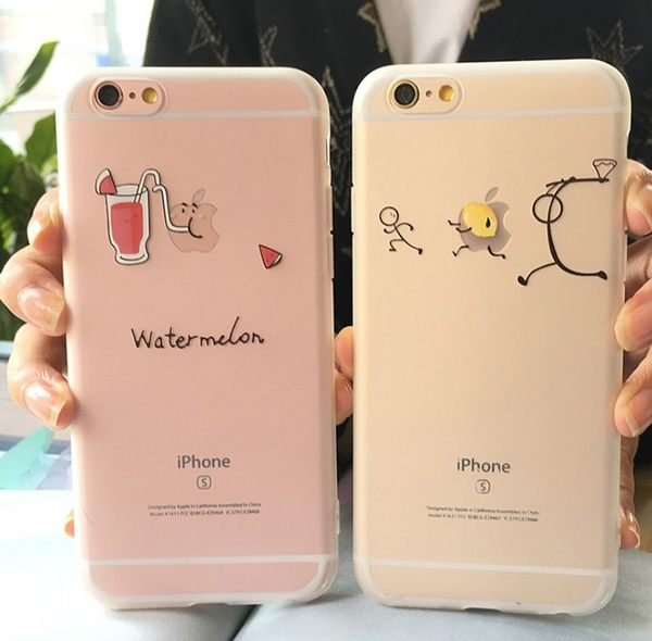 iPhone 6 7 s plus 小清新 水果 情侶 軟殼 iPhone6s 手機殼 6plus 透明 磨砂 TPU 軟殼