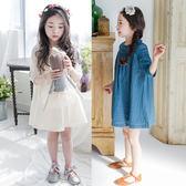 女童連身裙純棉沙灘裙
