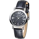 ALBA 天使心鑽甜美淑女腕錶-黑(AG8451X1)