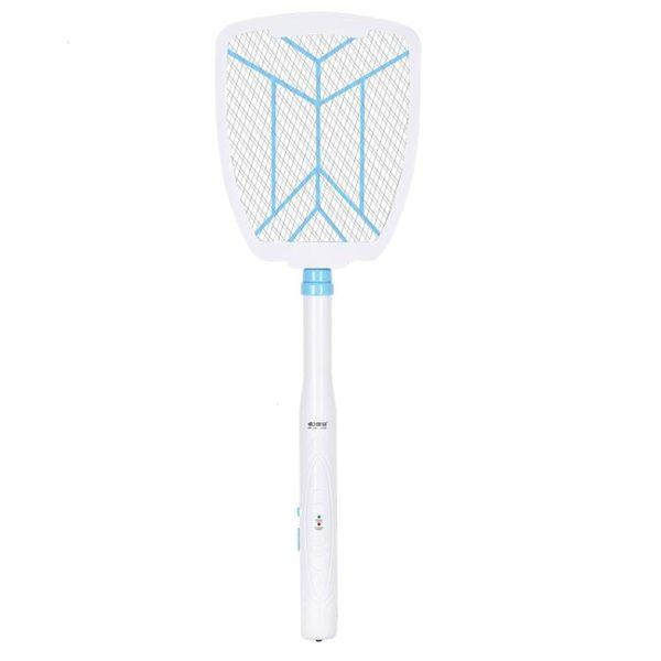 電蚊拍可伸縮充電式電子滅蚊拍家用加長電紋拍超強蒼蠅拍強力 夢藝家