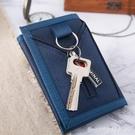 皮夹 帆布錢包男學生三折疊短款潮流韓版高中少年簡約小巧皮夾鑰匙扣 星河光年