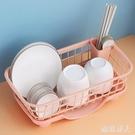 廚房置物架碗碟筷勺收納架濾水籃瀝水架塑料餐具收納盒收納筐碗柜 LF6076【極致男人】