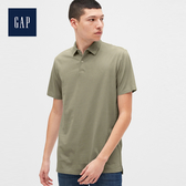 Gap 男裝 棉質純色POLO領短袖 530908-沙拉黃綠