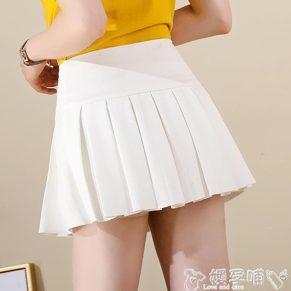 短裙 超短裙女高腰黑色半身群百摺裙短款秋冬2021新款顯瘦裙子小矮個子 嬡孕哺
