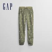 Gap女童 柔軟青年布鬆緊休閒褲 683700-綠色