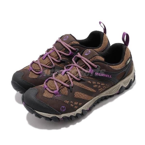 Merrell 戶外鞋 All Out Blaze Vent GTX 棕 紫 女鞋 Gore-Tex 防水 越野 登山 運動鞋【ACS】 ML32796