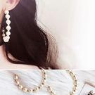 耳環 個性 珍珠 鏤空 半圓形 金珠 大圈圈 耳環【DD1711052】 icoca  11/30