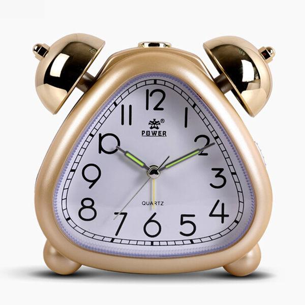 霸王鐘表鬧鐘可愛兒童懶人貪睡機械打鈴石英鐘創意靜音個性小鬧鐘【時尚家居館】