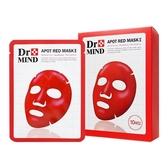 韓國 Dr.Mind 舒緩淨膚亮彩紅面膜(10片入)盒裝 【小三美日】神木水同款