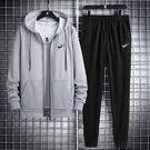 運動套装两件套跑步服保暖运动服休閒大碼男装