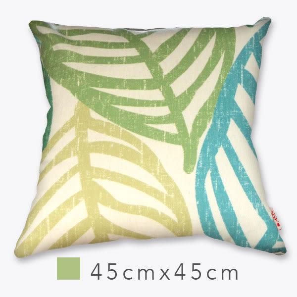 Canli圖騰風抱枕(含枕心)-沁綠 45cm×45cm 印刷風/ 設計款/ 小尺寸/ 靠墊/ 腰枕/ 午安枕