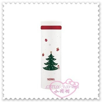 ♥小花花日本精品♥《THERMOS》膳魔師 不鏽鋼 真空保溫杯 500ml 聖誕節系列 白色 聖誕樹 11282907