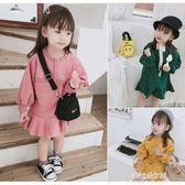 女童洋裝 童裝新款韓版兒童秋裝女童寶寶洋裝洋氣中小童長袖公主裙子  朵拉朵衣櫥