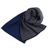 FENDI 滿版LOGO羊毛圍巾(深藍)