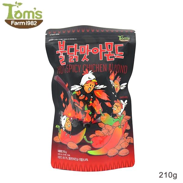 韓國 Toms Gilim 火辣雞杏仁果(210g) 【庫奇小舖】