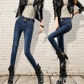 新款牛仔褲女裝修身顯瘦高腰彈力大碼韓版牛仔褲女士鉛筆褲潮 晴天時尚館