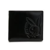 PLAYBOY- 中翻短夾  rabbithead系列-黑色