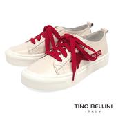 Tino Bellini 跳色童趣星芒綁帶厚底休閒鞋 _ 紅+粉膚 B83255