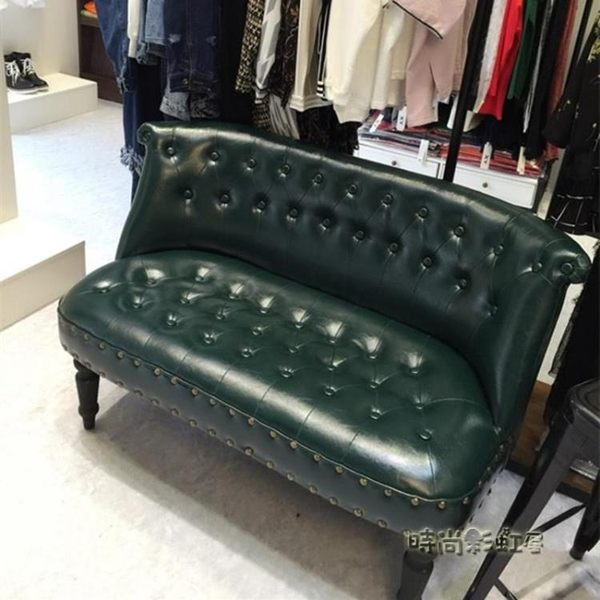 美式單人布藝服裝店雙人三人沙發椅小戶型咖啡廳臥室陽台迷你沙發mbs「時尚彩虹屋」